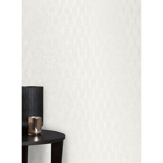 Kalix Light Grey Wave Wallpaper