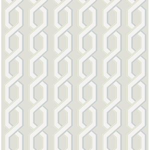 Twist Grey Geometric Wallpaper