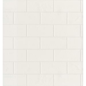 Paintable White Tile Wallpaper