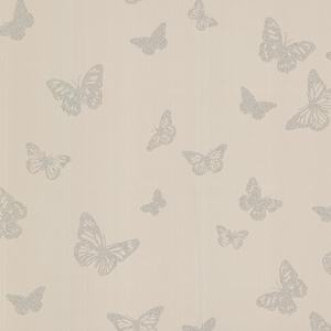 Café Pearl Butterfly Wallpaper