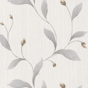 Nephi Silver Leaf Texture Wallpaper