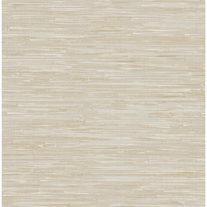 Natalie Beige Faux Grasscloth Wallpaper