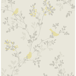 Nadia Yellow Bird Wallpaper