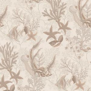 Percival Beige Ocean Scenic Wallpaper