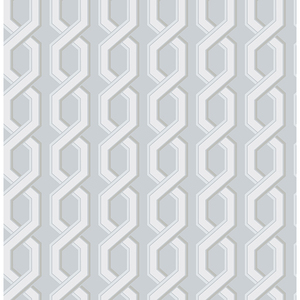 Twist Blue Geometric Wallpaper