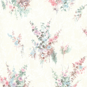 Quinn Pink Bouquet Floral Wallpaper