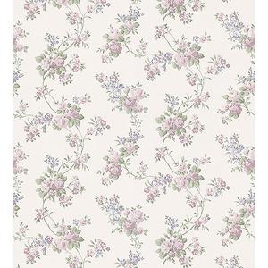 Gretchen Pastel Floral Trail Wallpaper