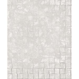 Dagmar Light Grey Medium Squares Wallpaper