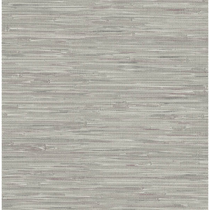 Natalie Grey Faux Grasscloth Wallpaper