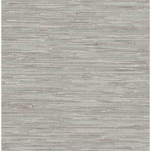 Natalie Grey Faux Grasscloth Wallpaper