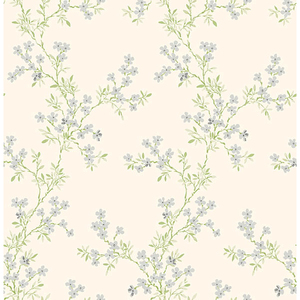 Claire Silver Floral Trail Wallpaper