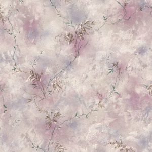 Bertrand Purple Satin Fern Texture Wallpaper