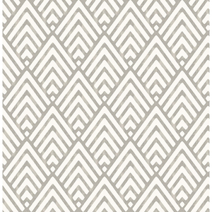 Vertex Taupe Diamond Geometric Wallpaper