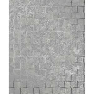 Dagmar Silver Medium Squares Wallpaper