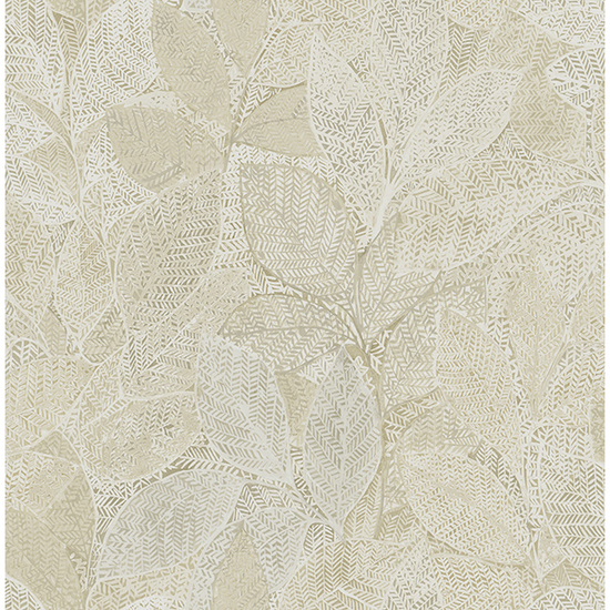Niabi Gold Leaves Wallpaper