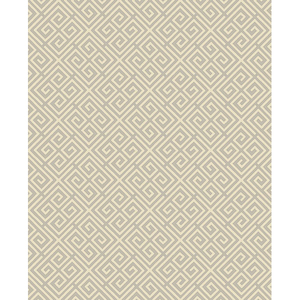 Omega Taupe Geometric Wallpaper