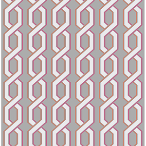 Twist Pink Geometric Wallpaper