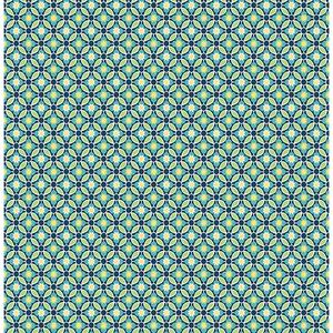Audra Blue Floral Wallpaper