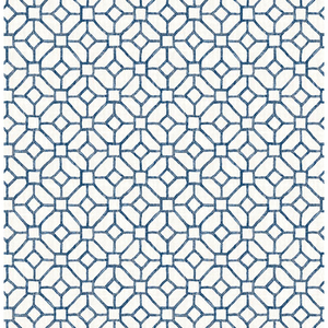 Gigi Navy Geometric Wallpaper