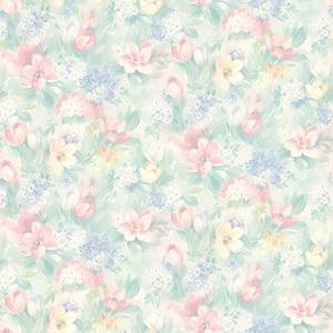 Hucklebee Pink Floral Wallpaper