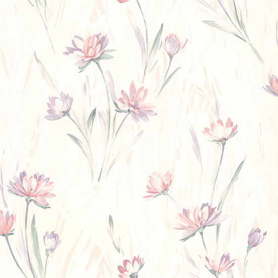 Gloria Peach Floral Wallpaper