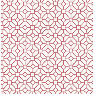 Gigi Ruby Geometric Wallpaper