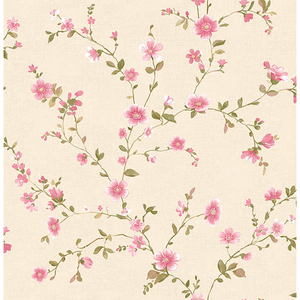 Delphine Pink Floral Trail Wallpaper