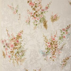 Quinn Peach Bouquet Floral Wallpaper
