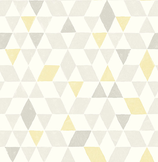 Scandi Yellow Triangles Wallpaper