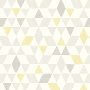 Scandi Yellow Triangles Wallpaper