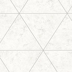 Polished Concrete Silver Geometric Wallpaper