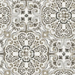 Florentine Grey Tile Wallpaper