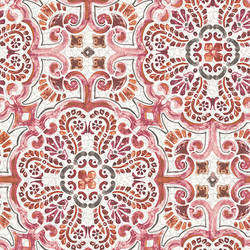 Florentine Pink Tile Wallpaper