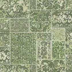 Esma Green Vintage Carpet Wallpaper