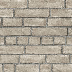 Façade Taupe Brick Wallpaper