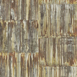 Patina Panels Copper Metal Wallpaper