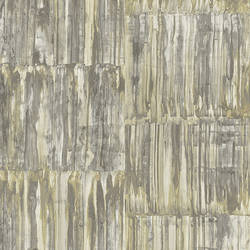 Patina Panels Yellow Metal Wallpaper
