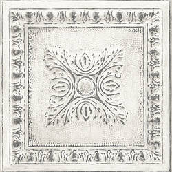 Ornamental Off-White Tin Tile Wallpaper