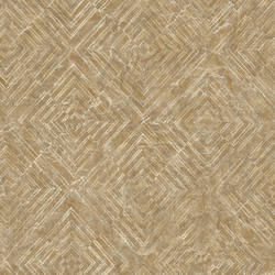 Labyrinth Gold Geometric Wallpaper