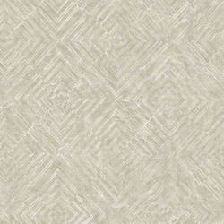 Labyrinth Platinum Geometric Wallpaper