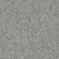 Labyrinth Pewter Geometric Wallpaper