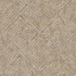 Labyrinth Bronze Geometric Wallpaper