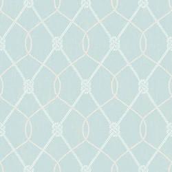 Tradewinds Aqua Trellis Wallpaper