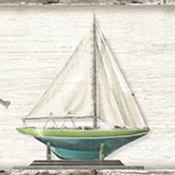 Set Sail Grey Boat Border