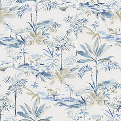 Lagoon Blue Watercolor Wallpaper