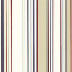 Cape Elizabeth Red Stripe Wallpaper