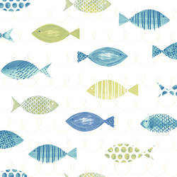 Key West Green Fish Wallpaper