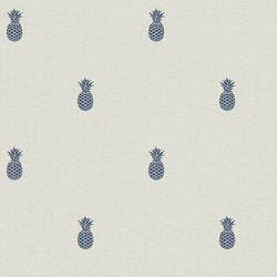 Southern Charm Navy Pineapple Wallpaper