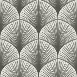 Dusk Grey Frond Wallpaper