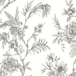 Jessamine Grey Floral Trail Wallpaper